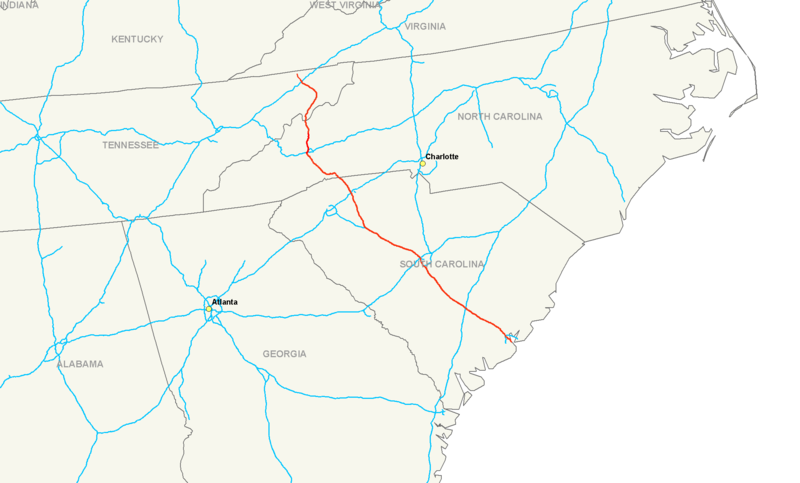 File:Interstate 26 map.png