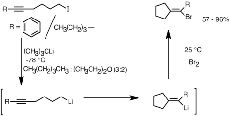 A sample stereoselective intramolecular carbolithiation reaction