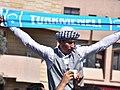 Iraqi Turkmen youth holding a Turkmeneli scarf.jpg