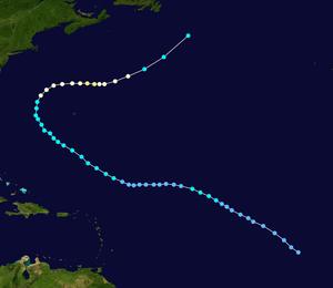 Hurricane Irene (2005) - Image: Irene 2005 track