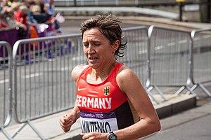 Irina Mikitenko - Mikitenko competing at her fourth Olympics in London in 2012