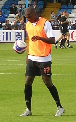 Ishmael Miller - Miller warming up for West Bromwich Albion in 2007