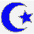 Islamic star and crescent electric blue.PNG
