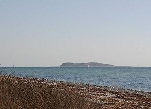 Hjelm (island) - Hjelm seen from Djursland