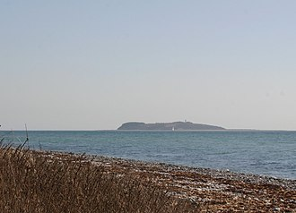 Hjelm (island) - Hjelm seen from Djursland