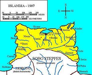 Location of Islandia