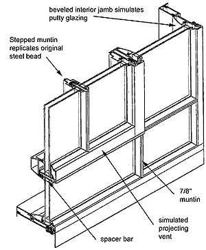 English: Isometric drawing of aluminum replace...