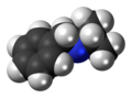 Isopropylbenzylamine molecule spacefill.png