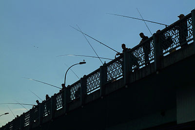 Fishermen at the Galata Bridge, Istanbul