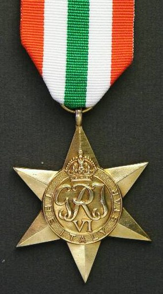 South African military decorations - Image: Italy Star