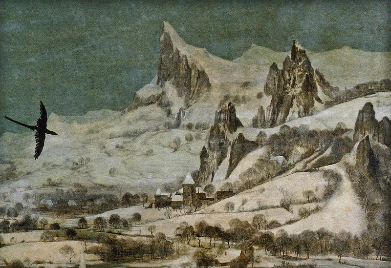 Datei:Jäger im Schnee - Gebirge und Burg.jpg