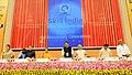 J.P. Nadda, Shri Narendra Singh Tomar, Smt. Smriti Irani, Shri Dharmendra Pradhan and Shri Rajiv Pratap Rudy launch the Trainers Portal, at the 2nd Anniversary Celebrations of the Skill Indian Mission.jpg