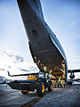 JCB Exiting a RAF7 Aircraft in the Philippines MOD 45156439.jpg