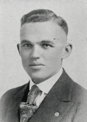 Joe Simmons (coach) - Simmons pictured in Chippewa 1921, Central Michigan yearbook