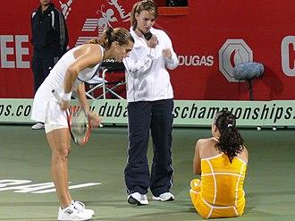 Sports injury - A tennis injury