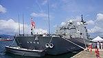 JS Fuyuzuki(DD-118) right rear view at JMSDF Maizuru Naval Base July 27, 2014 01.jpg