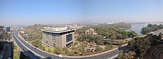 Jogeshwari–Vikhroli Link Road - Image: JVLR and Powai Lake View from Emerald Isle 1