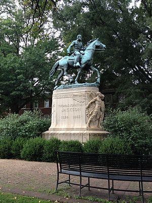 Thomas Jonathan Jackson (sculpture) - The monument in 2014