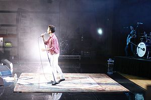 Leon Jackson - Jackson performing live during the Right Now UK Tour (2009)