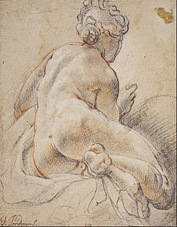 Jacob Jordaens - Female Nude, Seen from the Back - Google Art Project