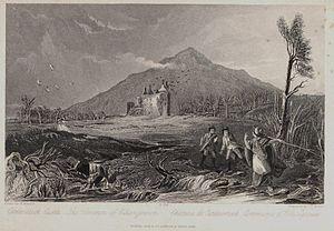 Caerlaverock Castle - Historic view of Caerlaverock Castle