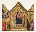 Jacopo del casentino, trittico della madonna in trono, angeli e santi.jpg
