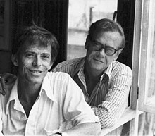 Authors James Merrill and David Jackson at home in Athens, Greece, October 1973.