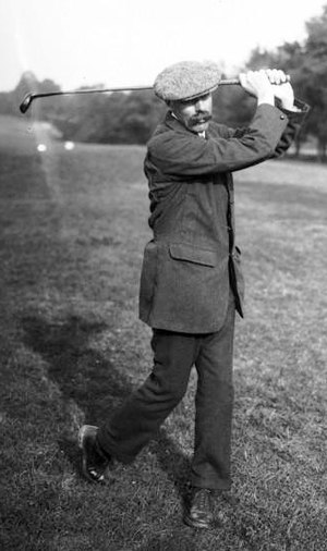 James Braid (golfer) - Braid playing at the Open de France at Chantilly in 1913