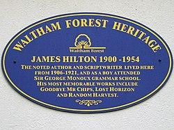 James hilton (waltham forest heritage)