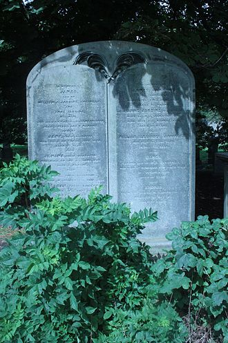 James Jardine - James Jardine's grave, Warriston Cemetery