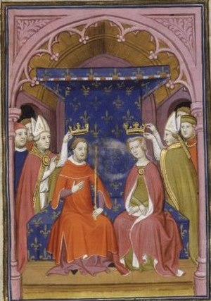 Joan I, Countess of Auvergne - Coronation of King John and Queen Joan
