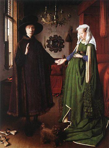 File jan van eyck portrait of giovanni arnolfini and his for Autoportrait miroir
