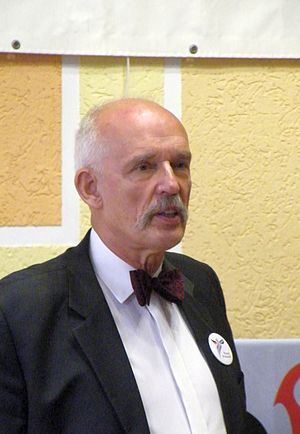 European Parliament election, 2014 (Poland) - Image: Janusz Korwin Mikke w Koninie