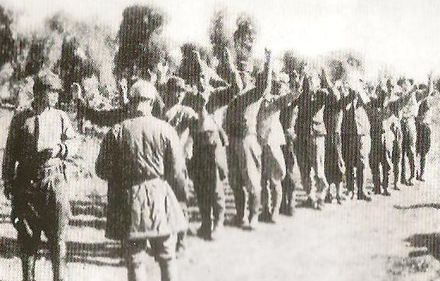 Japanese troops surrendering to the Chinese Japanese Surrender China 1945.jpg