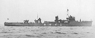 Sokuten-class minelayer (1938) - Image: Japanese minelayer Niizaki 1942