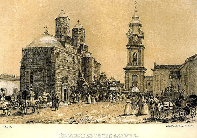 Jassy (Iasi)-Trei Ierarhi Monastery (J.Rey, 1845)