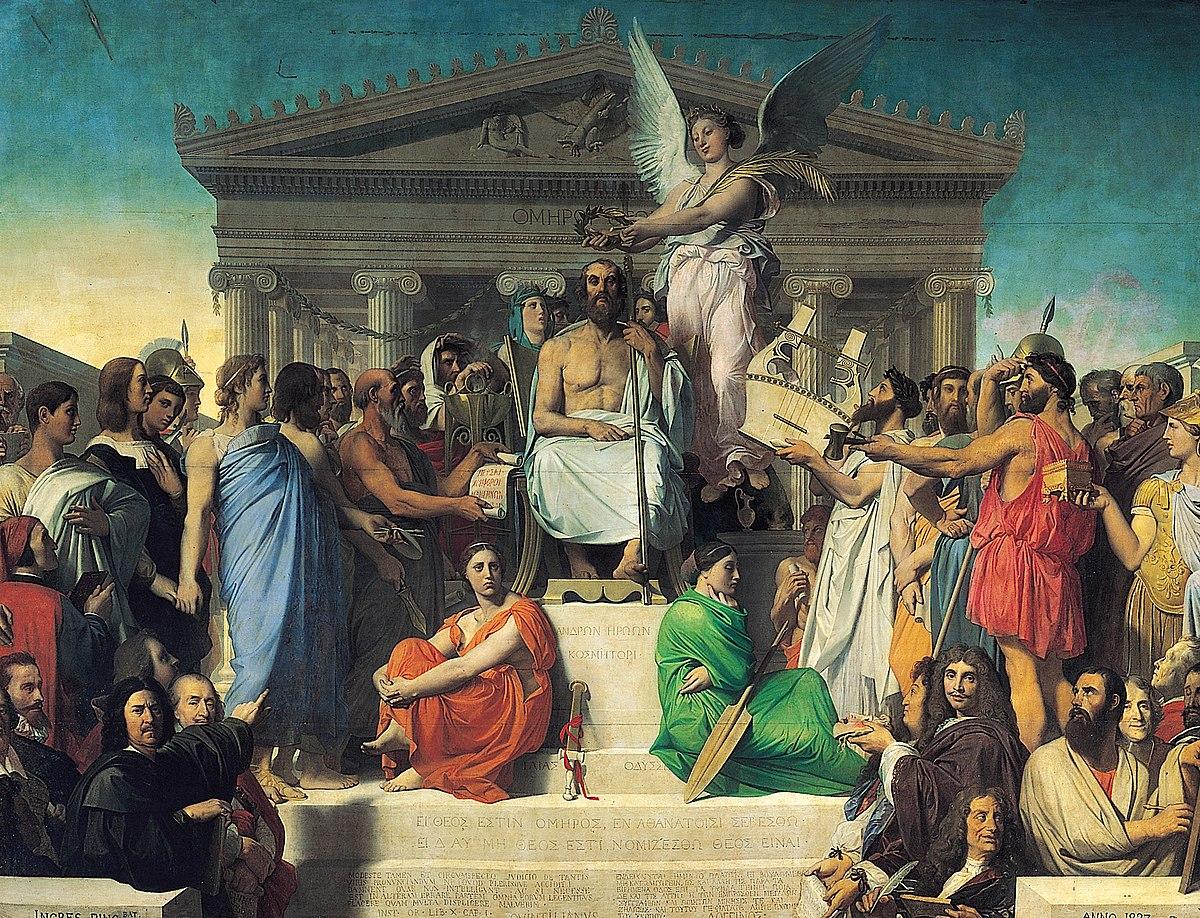 The apotheosis of homer ingres wikipedia for Epoca clasica