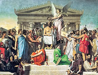 The Apotheosis of Homer (Ingres) - Image: Jean Auguste Dominique Ingres, Apotheosis of Homer, 1827