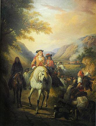 Camisard - Camisard commander Jean Cavalier. 1864 painting.