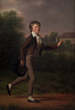 Jens Juel - A Running Boy. Marcus Holst von Schmidten - Google Art Project