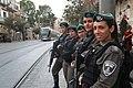 Jerusalem Border Patrol on Jaffa Street in Jerusalem.jpg