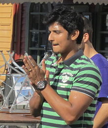 Jiiva during Ko film shooting.jpg