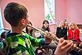 Jill Biden and Sheila Nix visiting Adra International in Kyiv, Ukraine.jpg