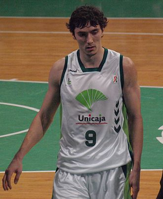 Jiří Welsch - Welsch, with Unicaja Málaga, in 2009.