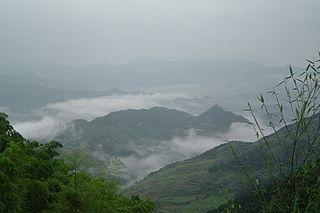 Mount Jiuhua mountain in Anhui, China