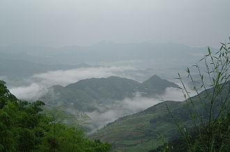 Mount Jiuhua - A view from Jiuhuashan's Lesser Tiantai peak