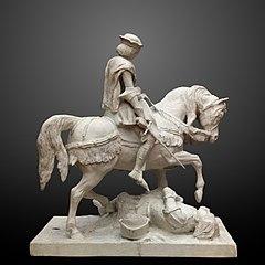 Jeanne d'Arc pleurant à la vue d'un Anglais blessé