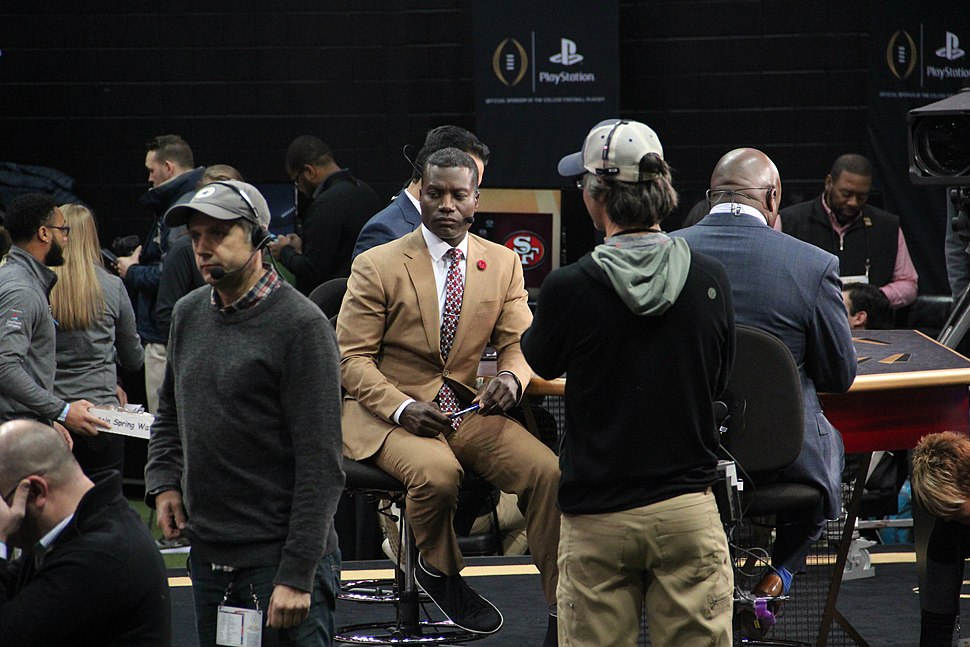 Joey Galloway ESPN set media day, Jan 2018