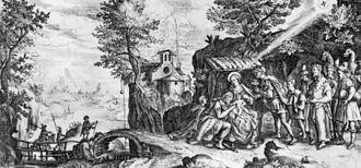 Johannes Wierix - Adoration of the Magi, engraving on ivory