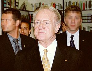 History of Germany since 1990 - Johannes Rau at the German Evangelical Church Assembly in 2001